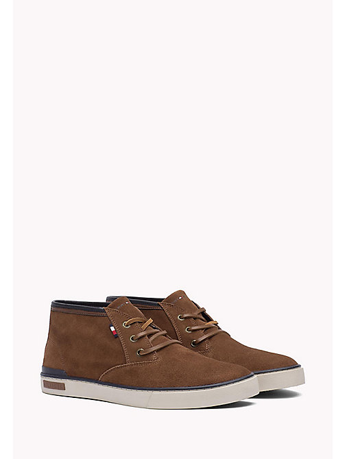 TOMMY HILFIGER Suede Sneaker - COGNAC - TOMMY HILFIGER Shoes - main image