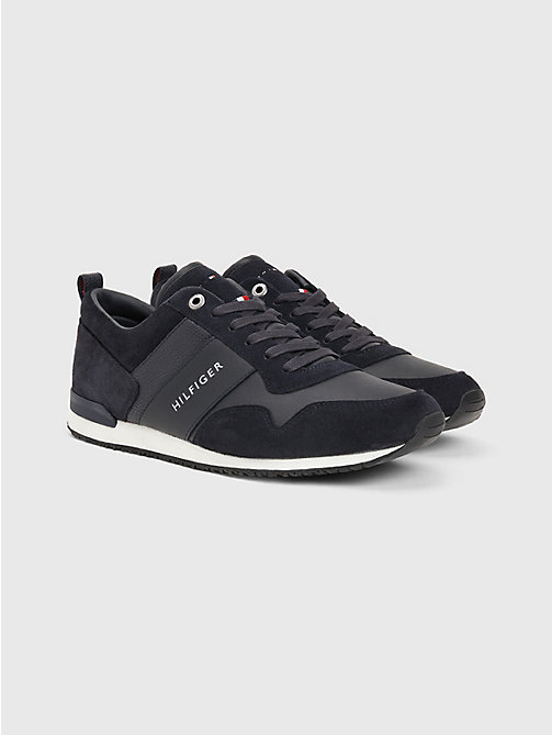 TOMMY HILFIGER Suede Mix Sneaker - MIDNIGHT - TOMMY HILFIGER Trainers - main image
