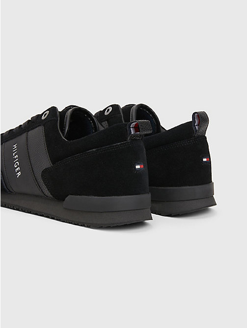 TOMMY HILFIGER Suede Mix Sneaker - BLACK - TOMMY HILFIGER Trainers - detail image 1