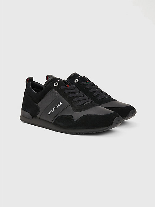 TOMMY HILFIGER Sneakers im Wildleder-Mix - BLACK - TOMMY HILFIGER Sneakers - main image