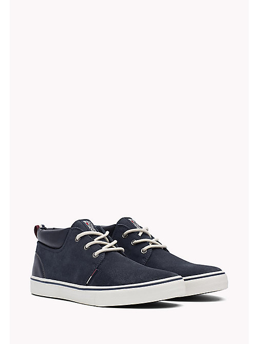TOMMY JEANS Leather Sneaker - INK - TOMMY JEANS Shoes - main image