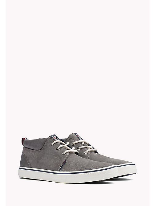 TOMMY JEANS Leather Sneaker - CITY GREY - TOMMY JEANS Shoes - main image