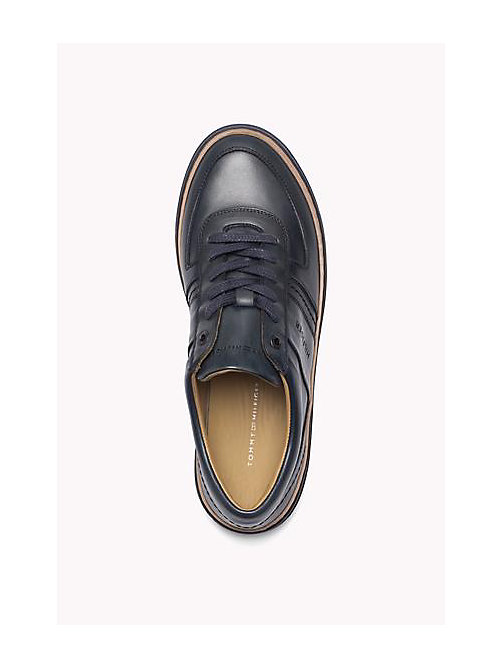 TOMMY HILFIGER Leather Lace-Up Sneaker - MIDNIGHT - TOMMY HILFIGER Shoes - detail image 1