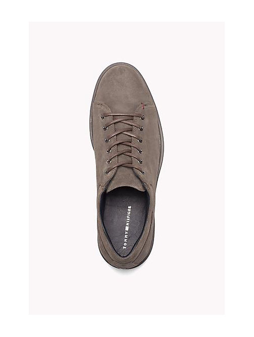 TOMMY HILFIGER Suede Lace-Up Sneaker - TAUPE - TOMMY HILFIGER Shoes - detail image 1