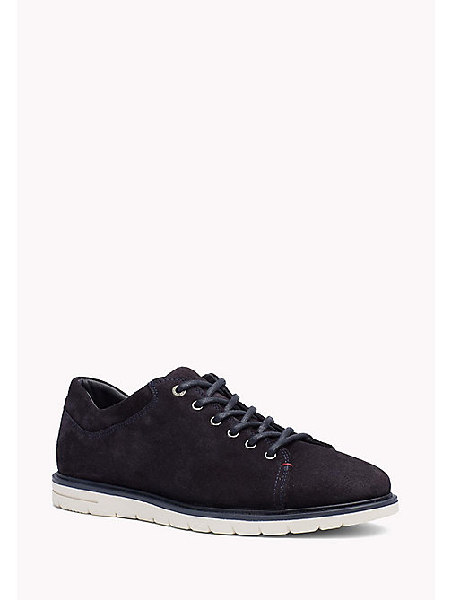 TOMMY HILFIGER Suede Lace-Up Sneaker - MIDNIGHT - TOMMY HILFIGER Shoes - main image