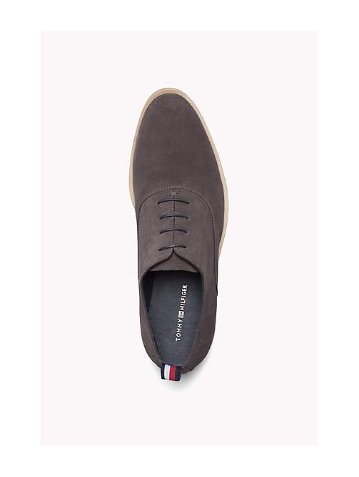 TOMMY HILFIGER Suede Lace-Up Shoe - STEEL GREY - TOMMY HILFIGER Shoes - detail image 1
