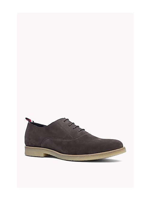 TOMMY HILFIGER Suede Lace-Up Shoe - STEEL GREY - TOMMY HILFIGER Shoes - main image
