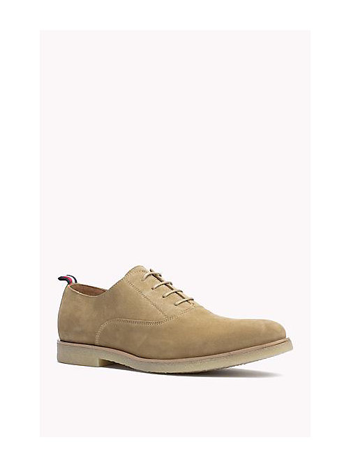 TOMMY HILFIGER Suede Lace-Up Shoe - CASHMERE - TOMMY HILFIGER Shoes - main image