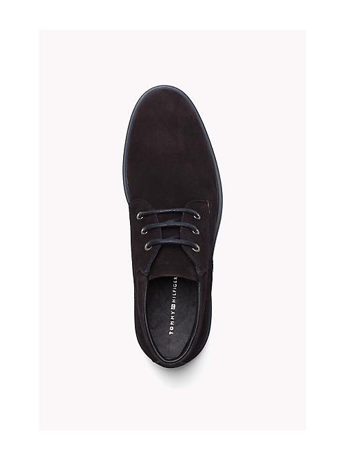 TOMMY HILFIGER Suede Lace-Up Ankle Boot - MIDNIGHT - TOMMY HILFIGER Shoes - detail image 1