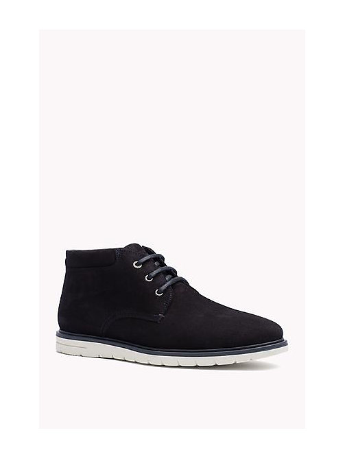 TOMMY HILFIGER Suede Lace-Up Ankle Boot - MIDNIGHT - TOMMY HILFIGER Shoes - main image