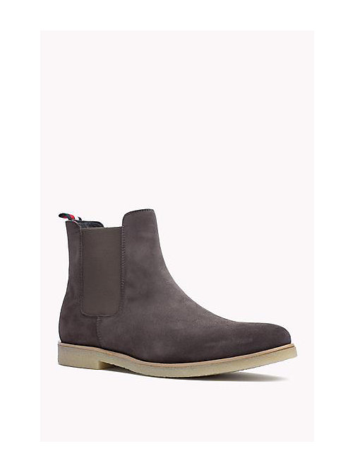 TOMMY HILFIGER Suede Ankle Boot - STEEL GREY - TOMMY HILFIGER Shoes - main image