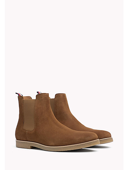 TOMMY HILFIGER Suede Ankle Boot - WINTER COGNAC - TOMMY HILFIGER Shoes - main image