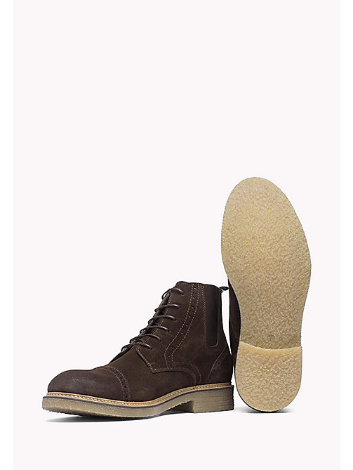 TOMMY HILFIGER Suede Ankle Boot - COFFEEBEAN - TOMMY HILFIGER Shoes - detail image 1