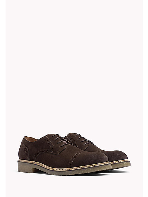 TOMMY HILFIGER Suede Lace-Up Shoe - COFFEEBEAN - TOMMY HILFIGER Casual Shoes - main image