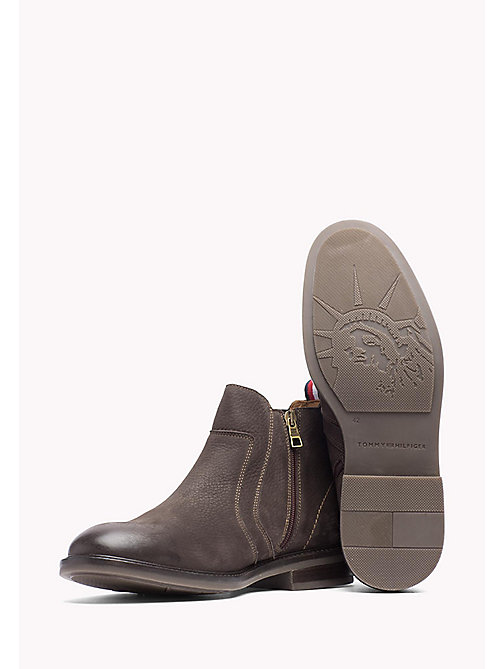 TOMMY HILFIGER Leather Ankle Boot - BROWN - TOMMY HILFIGER Shoes - detail image 1