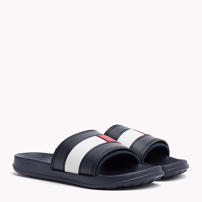 TOMMY HILFIGER Sliders - WHITE - TOMMY HILFIGER Shoes - main image