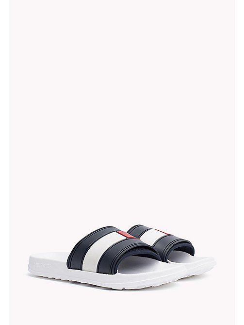 TOMMY HILFIGER Sliders - WHITE - TOMMY HILFIGER Sandals & Flip Flops - main image