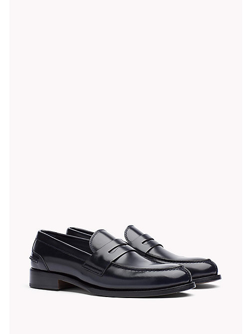 TOMMY HILFIGER Leather Loafer - MIDNIGHT - TOMMY HILFIGER Shoes - main image