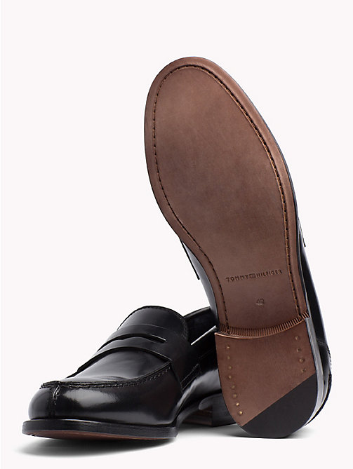TOMMY HILFIGER Iconic Leather Penny Loafers - BLACK - TOMMY HILFIGER Casual Shoes - detail image 1