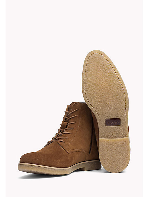 TOMMY HILFIGER Suede Ankle Boot - WINTER COGNAC - TOMMY HILFIGER Shoes - detail image 1