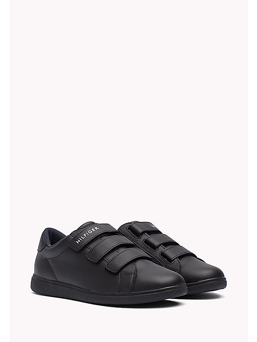 TOMMY HILFIGER Leather Sneaker - BLACK - TOMMY HILFIGER Shoes - main image
