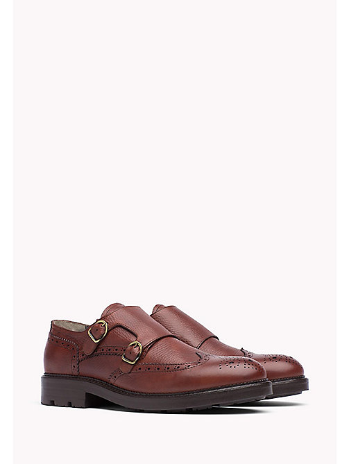 TOMMY HILFIGER Leather Brogue Shoe - CHESTNUT - TOMMY HILFIGER Casual Shoes - main image