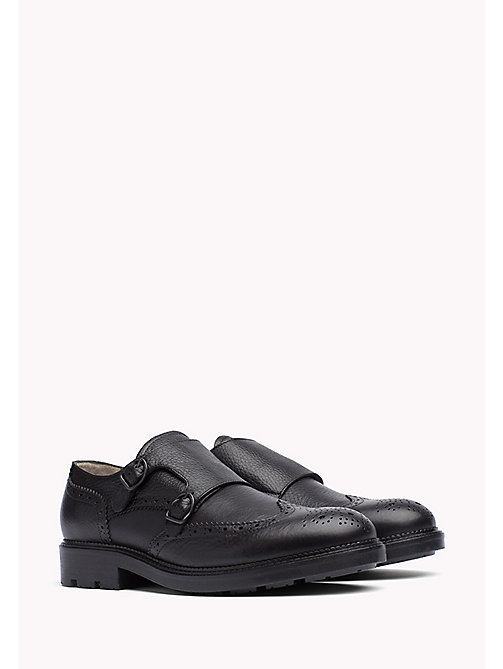 TOMMY HILFIGER Leather Brogue Shoe - BLACK - TOMMY HILFIGER Casual Shoes - main image