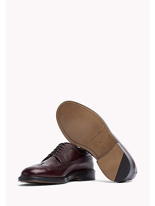 Iconic Leather Brogues - BURGUNDY - TOMMY HILFIGER Shoes - detail image 1