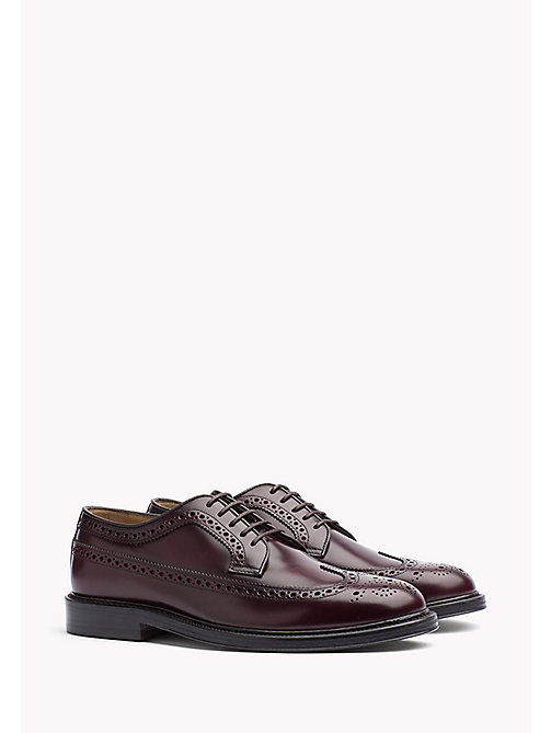 Iconic Leather Brogues - BURGUNDY - TOMMY HILFIGER Shoes - main image