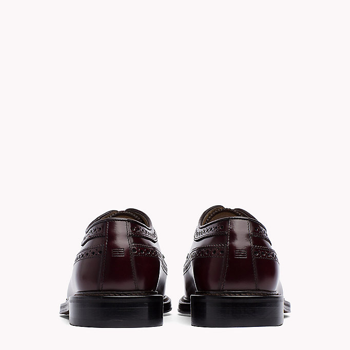 TOMMY HILFIGER Iconic Leather Brogues - BLACK - TOMMY HILFIGER Men - detail image 2