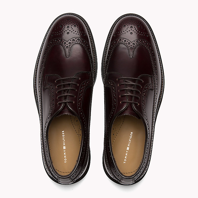 TOMMY HILFIGER Iconic Leather Brogues - BLACK - TOMMY HILFIGER Men - detail image 3