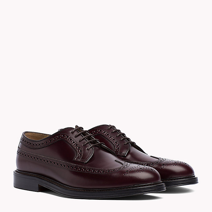 TOMMY HILFIGER Iconic Leather Brogues - BLACK - TOMMY HILFIGER Men - main image