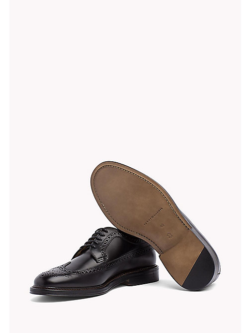 Iconic Leather Brogues - BLACK - TOMMY HILFIGER Shoes - detail image 1