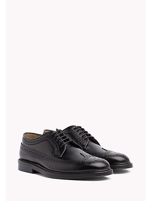 Iconic Leather Brogues - BLACK - TOMMY HILFIGER Shoes - main image