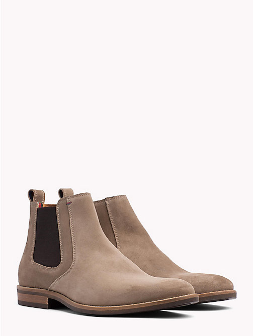 TOMMY HILFIGER Classic Suede Chelsea Boots - TAUPE GREY - TOMMY HILFIGER What to wear - main image