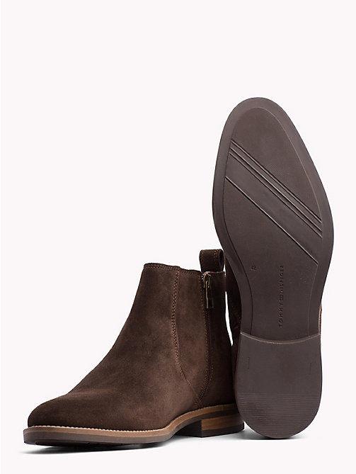 TOMMY HILFIGER Classic Suede Chelsea Boots - COFFEEBEAN - TOMMY HILFIGER Best Sellers - detail image 1