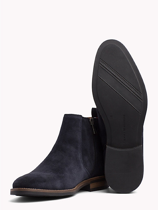 TOMMY HILFIGER Classic Suede Chelsea Boots - MIDNIGHT - TOMMY HILFIGER Best Sellers - detail image 1