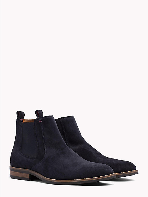 TOMMY HILFIGER Classic Suede Chelsea Boots - MIDNIGHT - TOMMY HILFIGER Best Sellers - main image