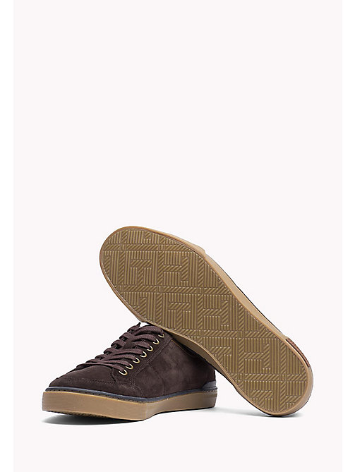 TOMMY HILFIGER Suede Sneaker - COFFEE BEAN - TOMMY HILFIGER Shoes - detail image 1