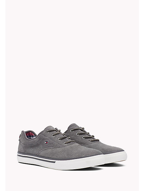 TOMMY HILFIGER Suede Sneaker - STEEL GREY - TOMMY HILFIGER Shoes - main image