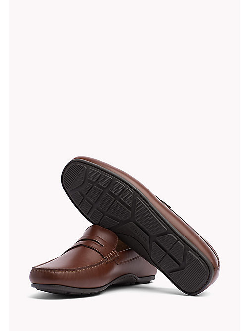 TOMMY HILFIGER Leather Penny Loafers - BRANDY - TOMMY HILFIGER Casual Shoes - detail image 1