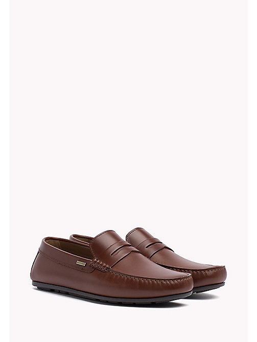 Leather Penny Loafers - BRANDY - TOMMY HILFIGER Shoes - main image