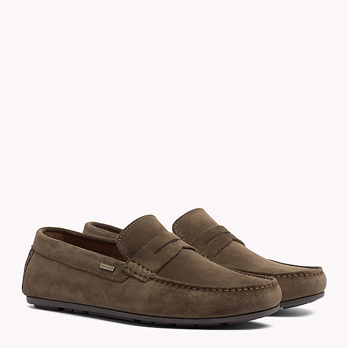 TOMMY HILFIGER Classic Suede Penny Loafers - JEANS - TOMMY HILFIGER Men - main image
