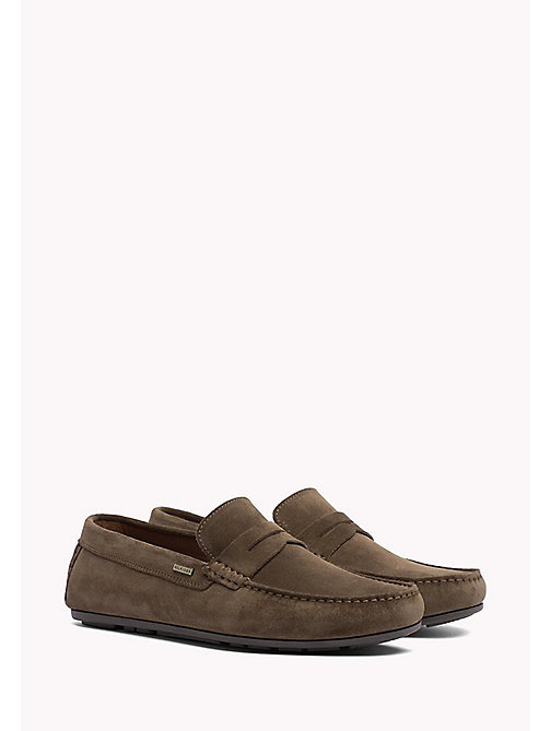 TOMMY HILFIGER Classic Suede Penny Loafers - SHITAKE -  Shoes - main image