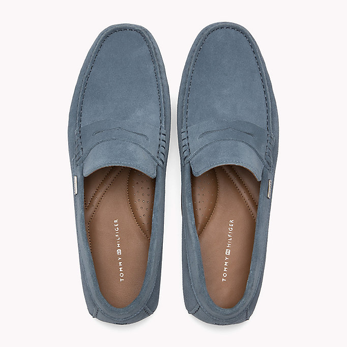 TOMMY HILFIGER Classic Suede Penny Loafers - MIDNIGHT - TOMMY HILFIGER Shoes - detail image 3