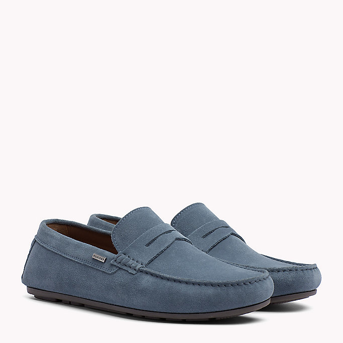 TOMMY HILFIGER Classic Suede Penny Loafers - MIDNIGHT - TOMMY HILFIGER Men - main image