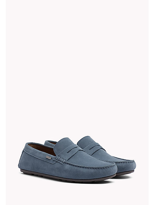 TOMMY HILFIGER Classic Suede Penny Loafers - JEANS - TOMMY HILFIGER Loafers & Boat Shoes - main image