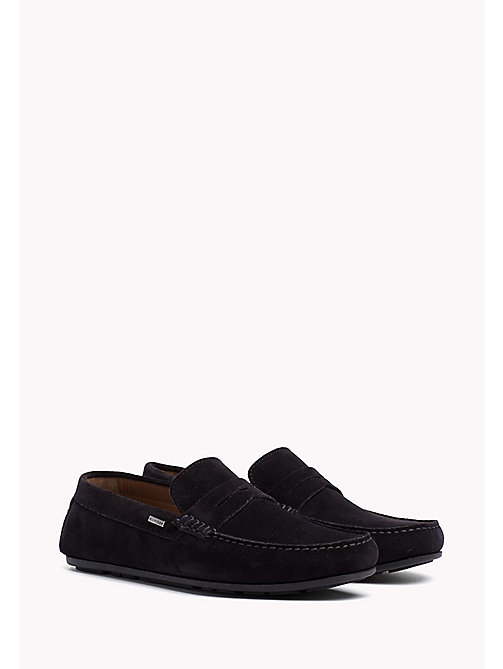 TOMMY HILFIGER Mocassins classiques en daim - MIDNIGHT - TOMMY HILFIGER Chaussures casual - image principale