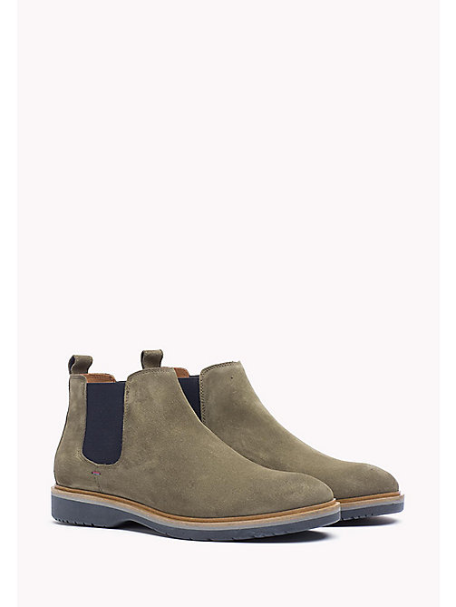 TOMMY HILFIGER Suede Ankle Boot - DUSTY OLIVE - TOMMY HILFIGER Shoes - main image