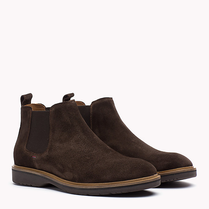 TOMMY HILFIGER Suede Ankle Boot - MIDNIGHT - TOMMY HILFIGER Men - main image